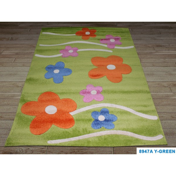 Детский ковер Fulya 8947a-y-green