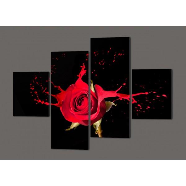 Модульная картина Роза в стиле Ню 160*114 см Код: 265.4k.160