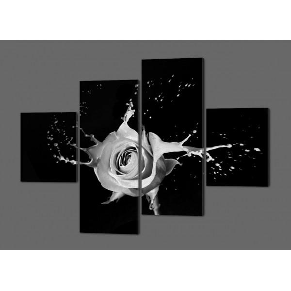 Картина Модульная Роза в ретро стиле 160*114 см  Код: 265.4k.160