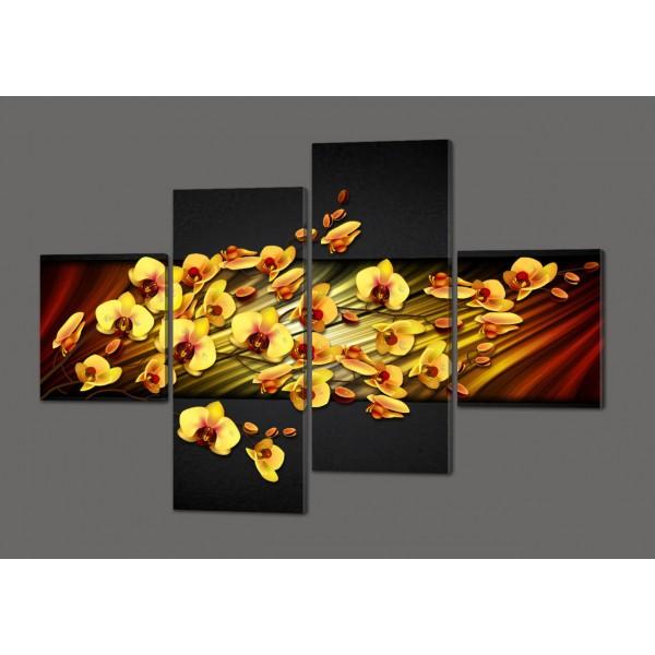 Модульная картина Цветы Орхидеи 160*114 см  Код: 311.4к.160