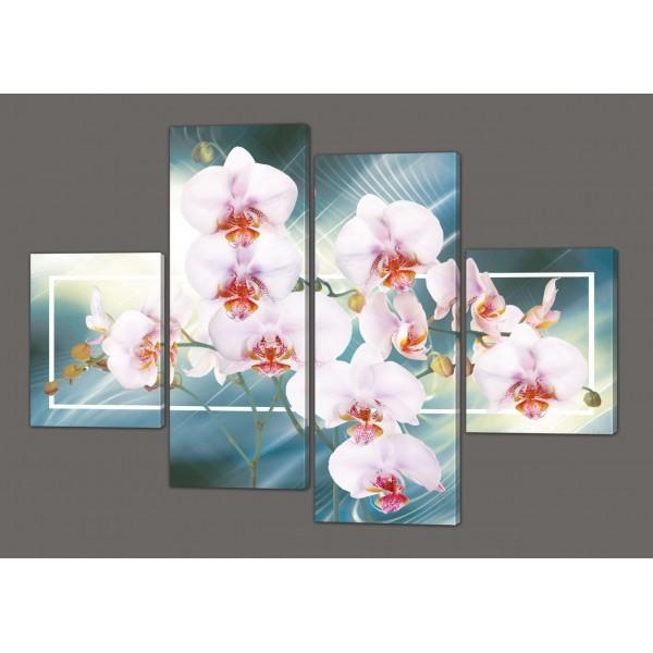 Модульная картина Орхидеи 120*93 см Код: 204.4k.120