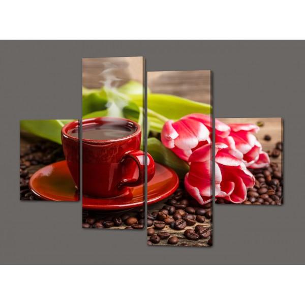 Картина из частей Тюльпаны 120*93 см Код: 530.4к.120