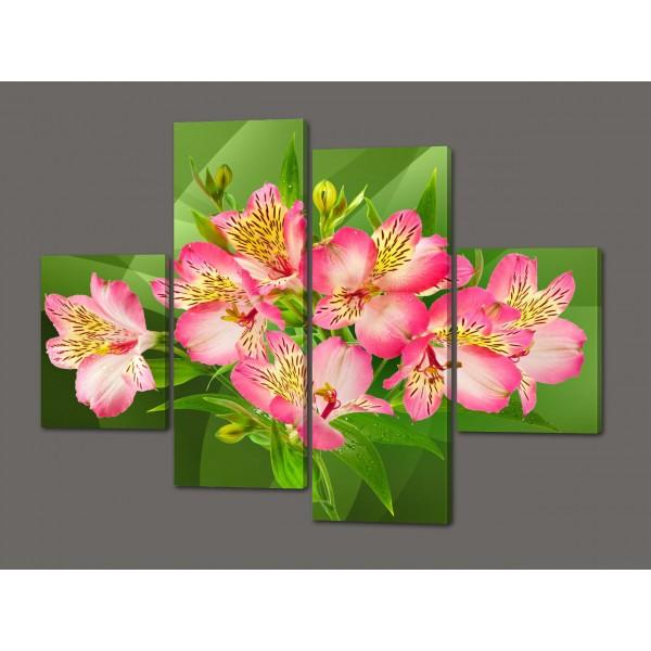 Модульная картина цветы Орхидеи 120*93 см  Код: 537.4к.120