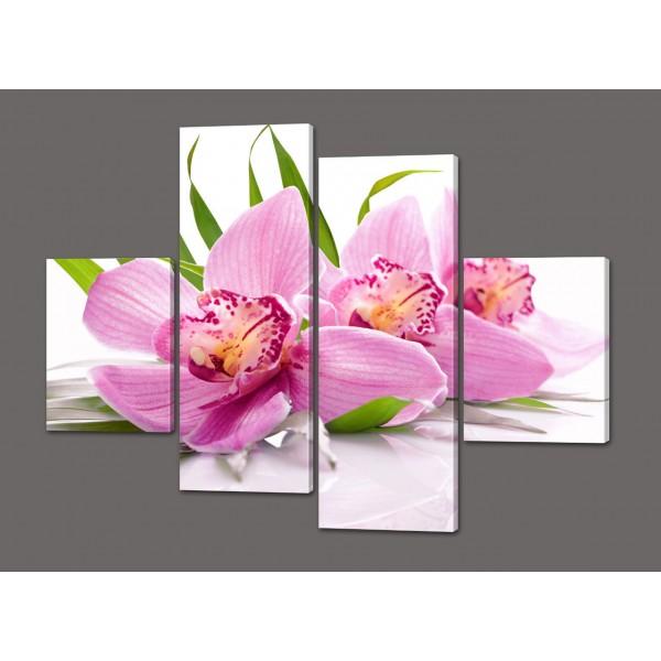 Модульная картина Орхидеи 120*93 см  Код: 527.4к.120