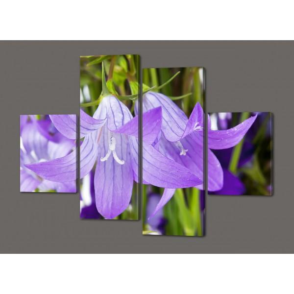 Картина из частей цветы Лилии 120*93 см Код: 529.4к.120