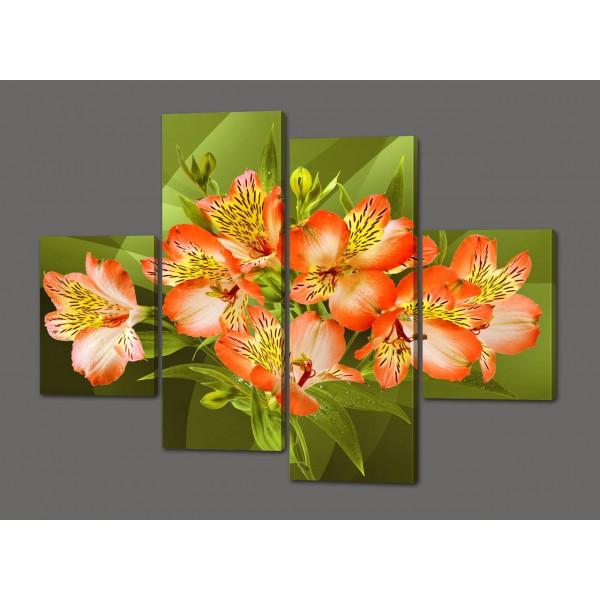 Модульная картина Орхидеи 120*93 см Код: 538.4к.120