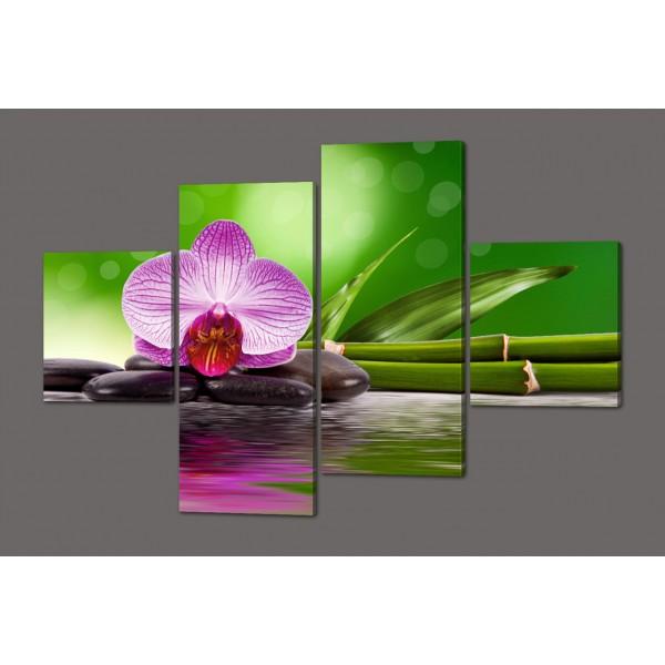 Модульная картина Орхидея и бамбук 160*114 см  Код: 243.4k.160