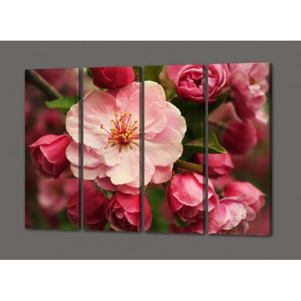 Модульная картина Розовый цветок 88*64 см