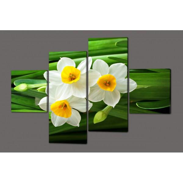 Модульная картина Нарциссы 160*114 см  Код: 446.4к.160