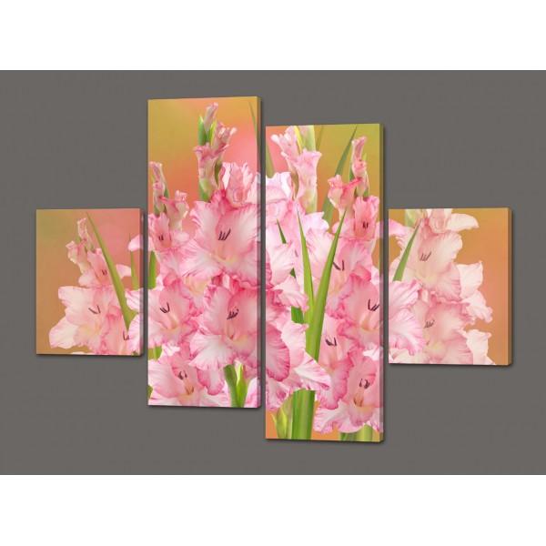 Модульная картина цветы Гладиолусы 120*93 см  Код: 442.4к.120