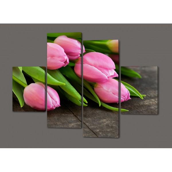 Модульная картина Тюльпаны 120*93 см Код: 418.4.120