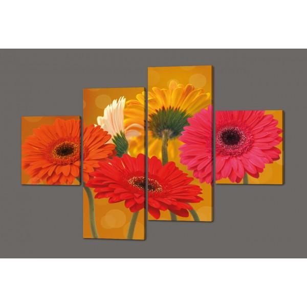 Модульная картина Цветы 160*114см Код: 387.4к.160