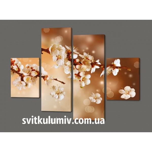 Модульная картина Сакура 120*93 см Код: 383.4к.120