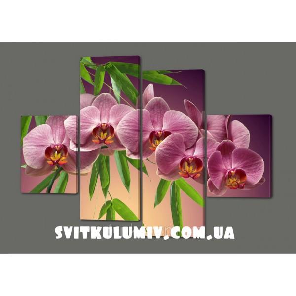 Модульная картина Орхидеи 120*93 см Код: 354.4к.120