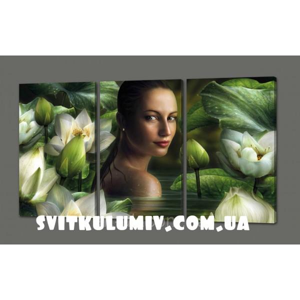 Модульная картина Цветы 120*70 см Код: 326.3к.120