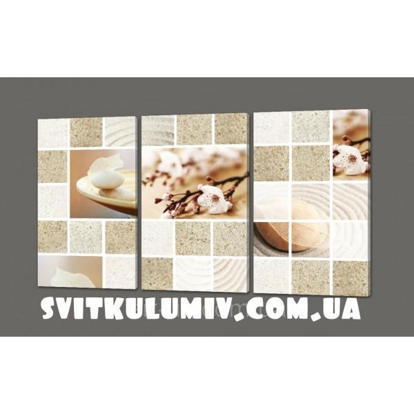 Картина на коже модульная Сакура 120*70 см Код: 278.4k.120