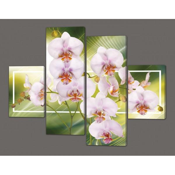 Модульная картина Орхидеи 120*93 см Код: 203.4k.120