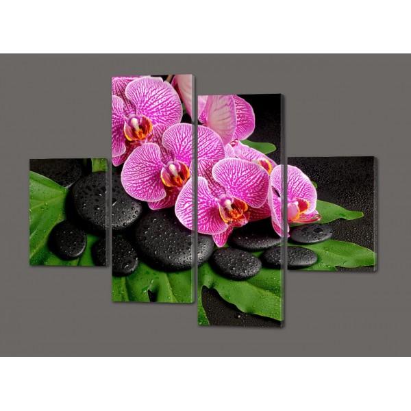 Модульная картина Орхидеи 120*93 см Код: 295.4K.120