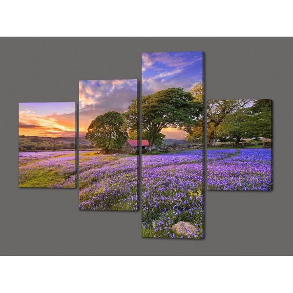 Модульная картина Поляна цветов 120*96,5 см Код: 543.4к.120