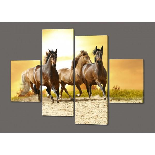 Картина из частей лошади 120*93 см