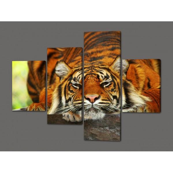Картина из частей Тигр 120*96,5 см Код: 535.4к.120
