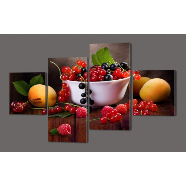 Модульная картина Натюрморт из фруктов 116*74 Код: 572.4к.116