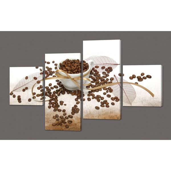 Модульная картина Зерна кофе 116*74 см Код: 575.4к.116