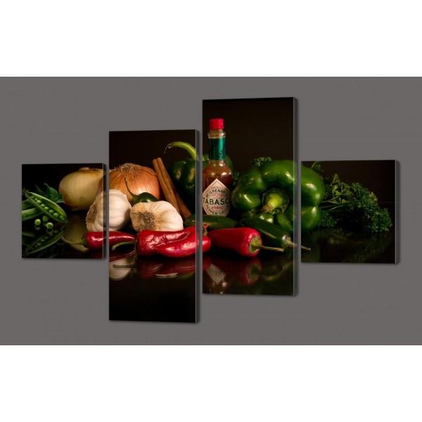 Модульная картина Натюрморт Овощи 116*74 см Код: 571.4к.116