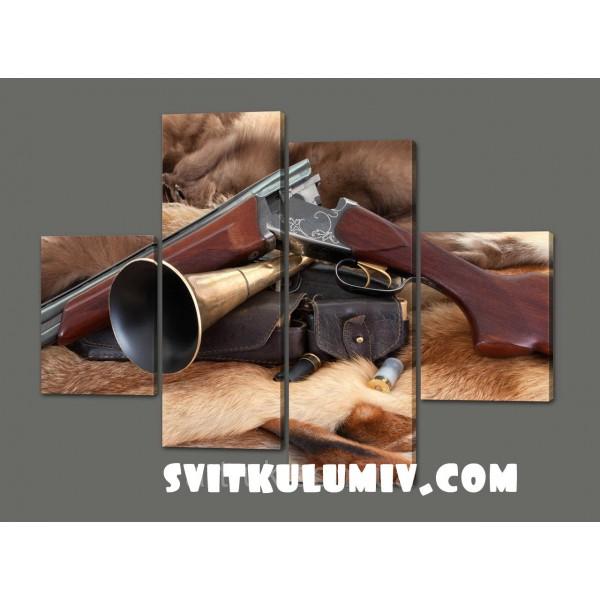 Модульная картина Оружие.Охота 120х93 см Код: 292.4K.120
