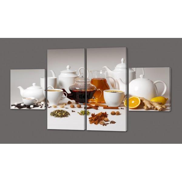 Модульная картина Чай и специи 116х64 см Код: 566.4к.116
