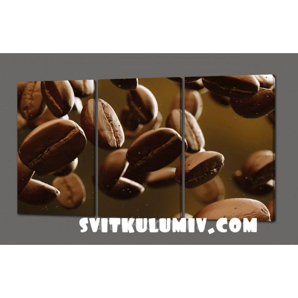 Модульная картина Зерна кофе (Кухня) 120*70 см Код: 343.3k.120