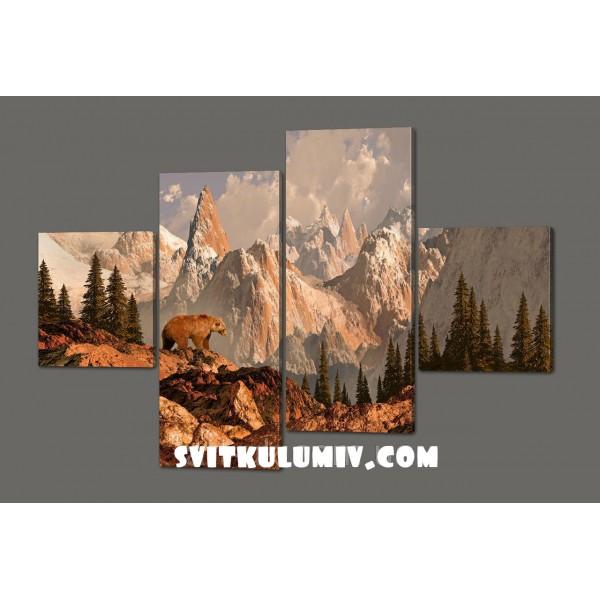 Модульная картина Красивый пейзаж 160*114 см Код: 468.4к.160