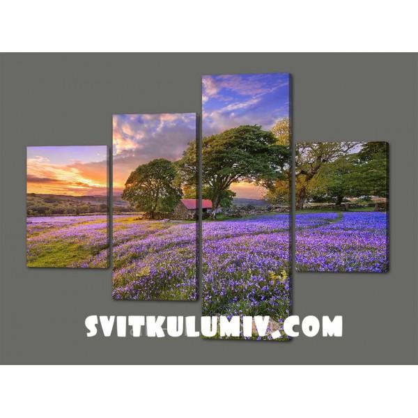 Модульная картина Красивый пейзаж 120*96,5 см Код: 543.4к.120