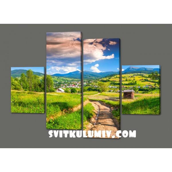 Модульная картина Красивый пейзаж 120*93 см Код: 528.4к.120