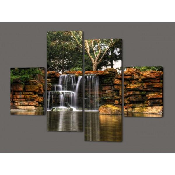 Модульная картина Водопад 120*114 см Код: 519.4к.120