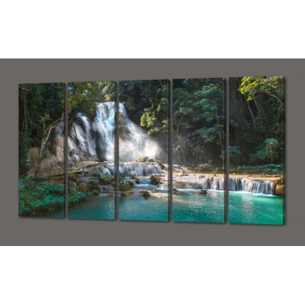 Модульная картина Водопад 110*64 см Код: 493.4к.110