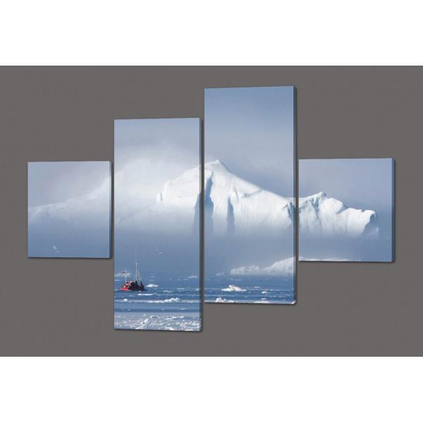 Модульная картина Айсберг 160*114 см Код: 455.4к.160