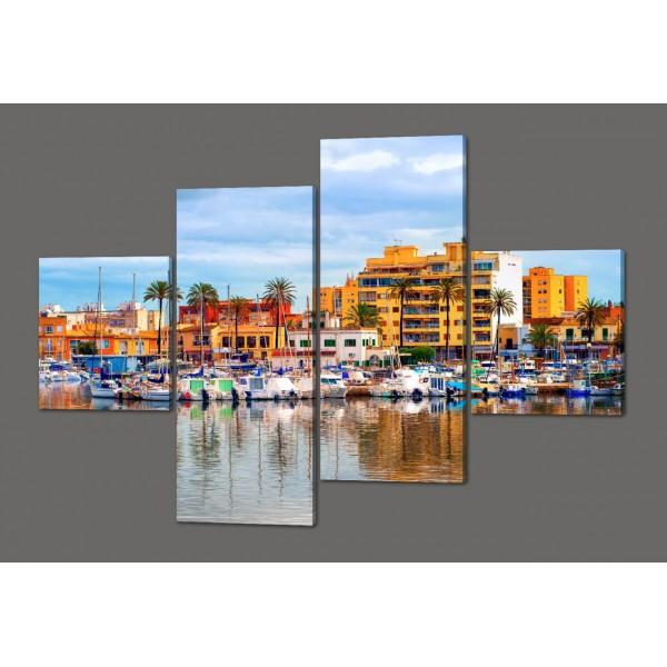 Модульная картина Красивый пейзаж 160*114 см Код: 448.4к.160