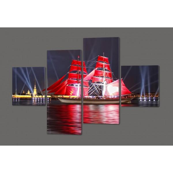 Модульная картина Морская тематика 160*114 см Код: 381.4к.160