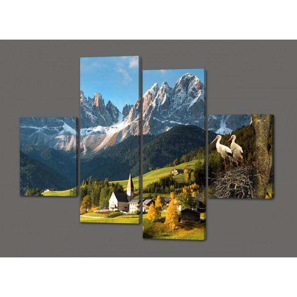 Модульная картина Горы 120*93 см Код: 415.4к.120