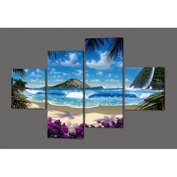 Модульная картина Райский остров 160*114 см Код: 392.4к.160