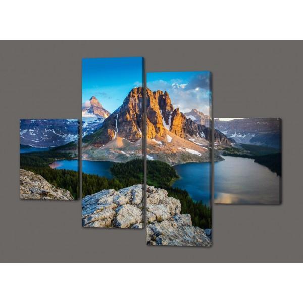 Модульная картина Национальный парк Банф в Канаде(горы,озеро) 120*93 см Код: 378.4к.120