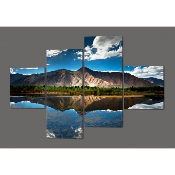 Модульная картина Горы 160*114 см Код: 332.4к.160