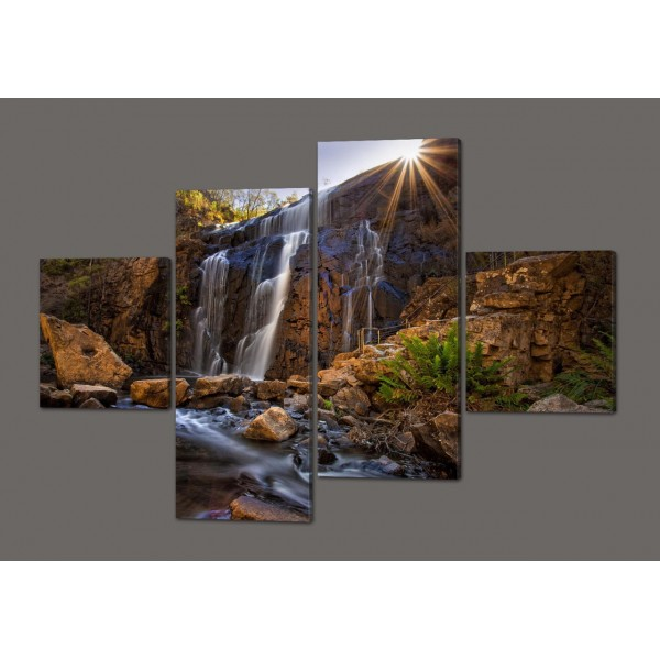 Модульная картина на искусственной коже Водопад.Природа 160*114 см Код: 321.4к.160