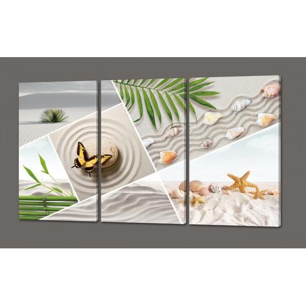 Модульная картина Морской коллаж 120*70 см Код: 184.3к.120