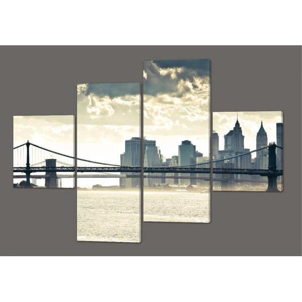 Модульная картина Мост в Нью-Йорке. Манхэттен 160*114 см Код: 248.4k.160