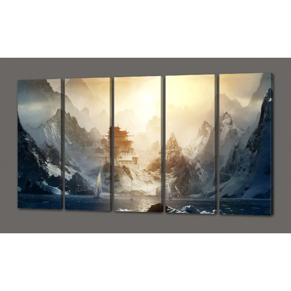 Модульная картина Дом 110*64 см