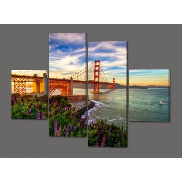 Модульная картина Мост в Сант-Франциско. США 120*93 см Код: 490.4к.120