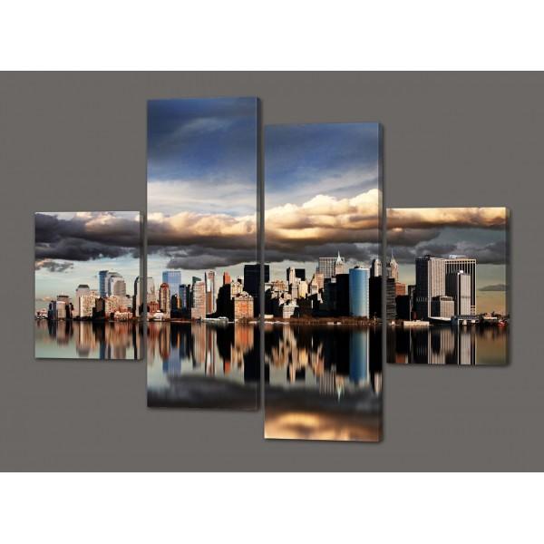Модульная картина Нью-Йорк 120*93 см Код: 496.4к.120