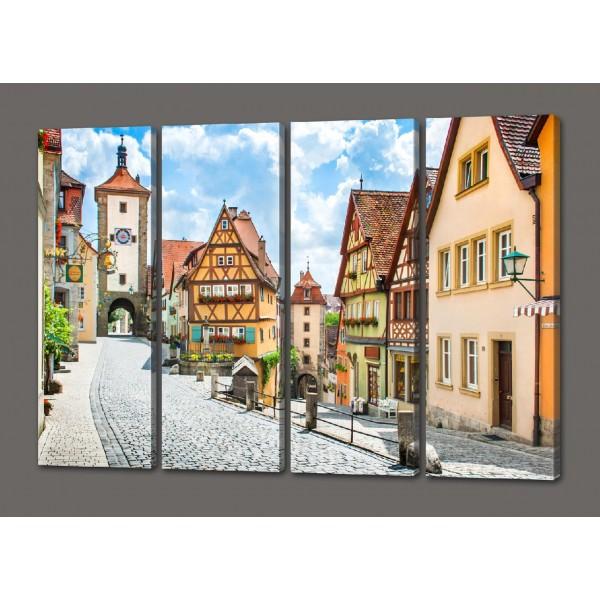 Модульная картина город Ротенбург 88*64 см Код: 479.4к.88